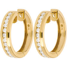 creoles or gold diamond hoop earrings online edenly