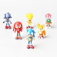 sonic party supplies online shop 2017 6pcs set sonic the hedgehog 6cm figure