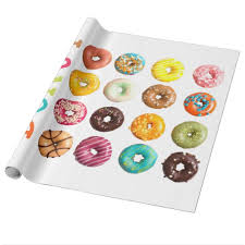 donut wrapping paper donuts wrapping paper zazzle