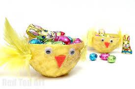 Diy Easter Basket Easter Basket Crafts Red Ted Art U0027s Blog