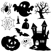 furniture entrancing witch flying silhouette halloween vector