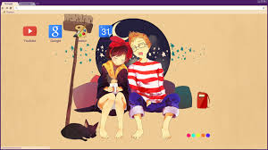 chrome themes cute cute sleeping kiki and tombo chrome theme by cc sakuraavalon cc on