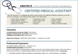 Medical Assistant Resume Templates Free Medical Assistant Resume Sample Amp Writing Guide Genius
