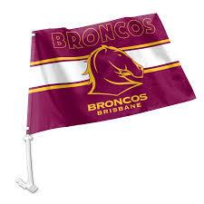Car Window Flags Brisbane Broncos Nrl Team Logo Car Window Flag Flags Nrl Guy Stuff