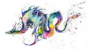 dragon tattoo watercolor danielhuscroft com