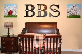 Sports Theme Crib Bedding Football Sports Theme Nursery For A Baby Boy With A Burberry Plaid
