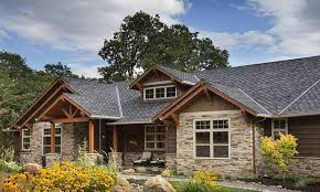 brick ranch converted to craftsman rustic craftsman ranch rustic