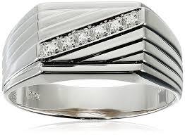 diamond men rings images Men 39 s 10k white gold diagonal diamond ring 0 03 cttw i j color jpg