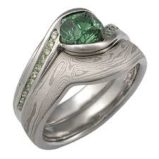 green lantern wedding ring carved wave engagement ring with green tourmaline