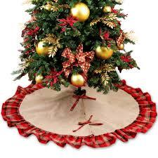 burlap tree skirt skirts happy holidays