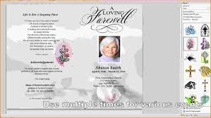 printable funeral programs 8 free funeral program template microsoft word