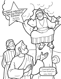 Jesus And Zacchaeus Coloring Page Many Interesting Cliparts Zacchaeus Coloring Page