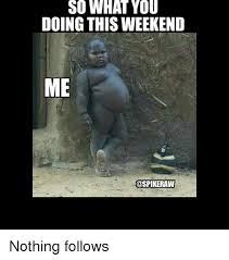 What You Doing Meme - so what you doing this weekend me ospikeraw nothing follows meme