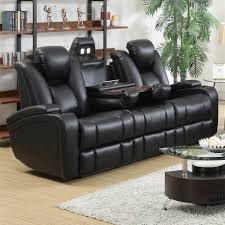 Power Sofa Recliner Coaster Delange Reclining Power Sofa With Adjustable Headrests