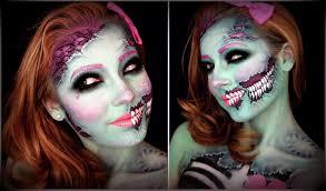 zombie makeup spirit halloween halloween makeup tutorial cute glittery cartoon zombie youtube