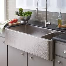 farmhouse kitchen sinks what faucet goes with a copper sink