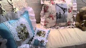 shabby chic hand made decorative pillows towels and gifts youtube