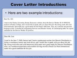 cover letter workshop rationale welcome to the u201cworkone job