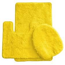 Yellow Bathroom Rug Yellow Bathroom Rug Sets Wayfair