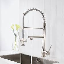 kitchen sink and faucet flg commercial style single handle pull down kitchen sink faucet