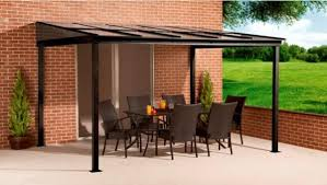 Aluminium Patio Roof 10 U0027 X 12 U0027 Ft Sun Shelter Wall Mounted Pc Roof Alu With Mosquito