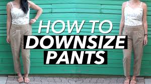 how to downsize a pair of pants withwendy youtube