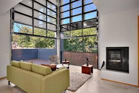 garage door ideas living room industrial with area rug balcony