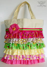 How To Make A Ruffled Valance No Sew Ruffle Tote With Tutorial Scattered Thoughts Of A Crafty