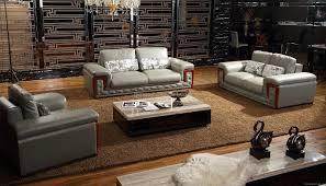 Modern Wooden Sofa Furniture Post Modern Wooden Sofa Set Quality Leather Home Furniture