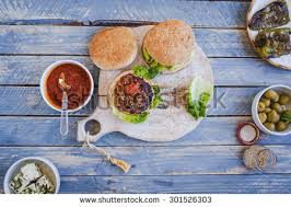 cutting board plates plate sandwich above stock images royalty free images vectors