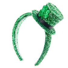 green headband st s day glitter mini hat headband s us