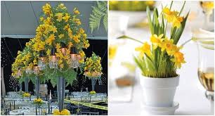 Potted Plants Wedding Centerpieces by Spring Wedding Ideas Daffodil Wedding Budget Brides Guide A