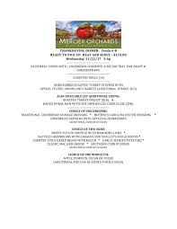 thanksgiving day menus 2017 thanksgiving day meal menu mercier orchards online