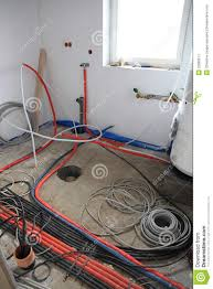 electrical installation inside a building stock image image