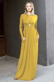 maxi dresses with sleeves solid jersey sleeve maxi dress with pockets burgundy