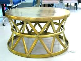 round glass top coffee table with metal base round drum coffee table round drum coffee table metal drum coffee