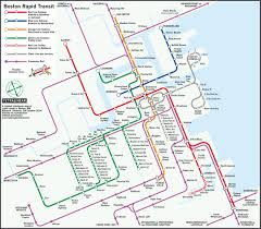 design competition boston boston rapid transit map with inner parts of commuter rail lines