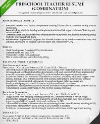 New Teacher Resume Examples Preschool Teacher Resume Example Resume For Job In Teacher Resume