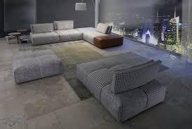 calia italia canapé en cuir canapé modulable contemporain en tissu 4 places
