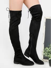 womens boots the knee flat heel thigh high boots black makemechic com high boots