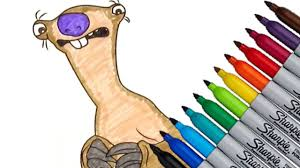 ice age sid coloring page 2016 new hd video for kids youtube