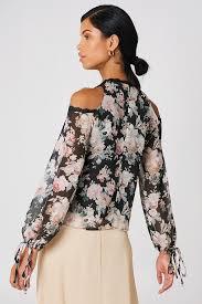open shoulder blouse open shoulder floral blouse na kd com