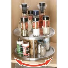 rangement pivotant cuisine plateau tournant accessoire de rangement rotatif à 2