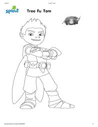 tree fu tom coloring pages sproutmerrython i was selected for