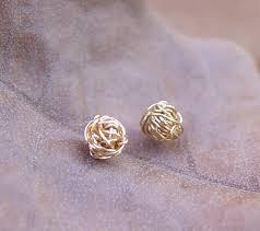 gold second studs gold earring studs zeige earrings