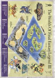 Final Fantasy 1 World Map by Retrogaming Game Maps Final Fantasy Legend Iii Recycled