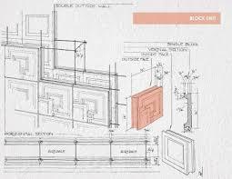 axon perspective textile block sytstem ennis house frank lloyd