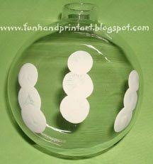 fingerprint snowman family keepsake ornament tutorial