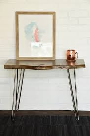 Rustic End Tables Live Edge Slab Rustic End Table Woodwaves