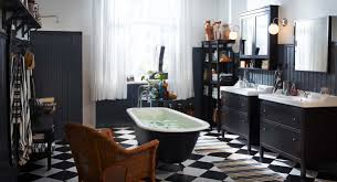 Small Black And White Tile Bathroom Black White Bathroom Decorating Black White Bathroom Decor